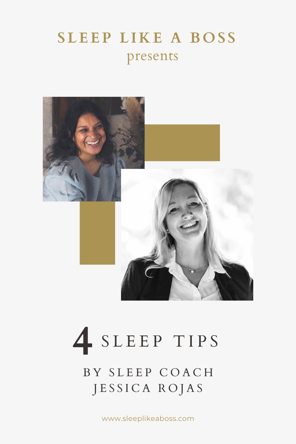 4 Sleep tips by sleep coach Jessica Rojas is the first of seven interviews with our Sleep Like A Boss sleep coaches and Christine Hansen.